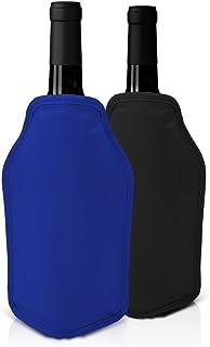 Juego de 2 Fundas Enfriadoras de Vino - Rojo y azul -