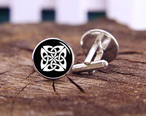 Death Devil Art Picture Cuff Links,Celtic Knot Cufflinks, Celtic Knot Cuff Links, Custom Cufflinks, Celtic Knot, Custom Wedding Cuff Links, Groom Cuff Links, Tie Clips Or Set,Gift of Love