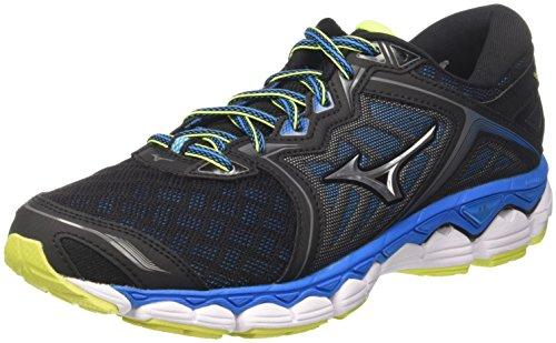Mizuno Wave Sky, Zapatillas de Running para Hombre, (Black/Silver/Divablue 05), 42.5 EU