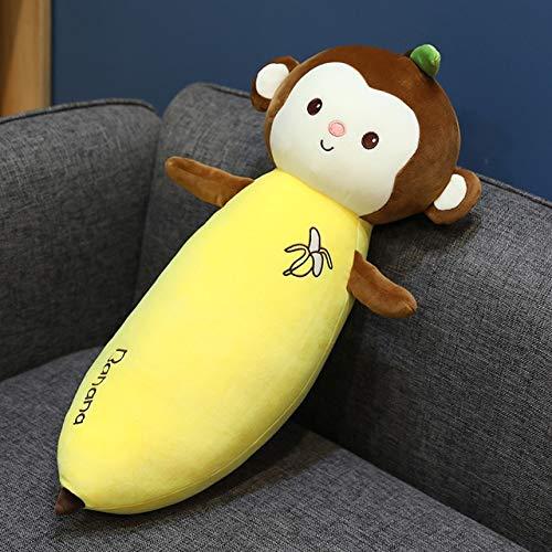 Mhtop Juguete de plátano de Zanahoria de Peluche Zanahoria de Dibujos Animados con Cara de bebé Mono plátano Almohada de Peluche de Peluche de Vegetales y Frutas de Peluche de Juguete