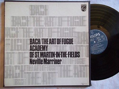 6747 172 Bach The Art of Fugue Academy St Martin Neville Marriner 2 LP box set