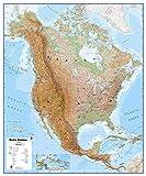 Maps International Huge Physical North America Wall Map - Laminated - 55 x 46