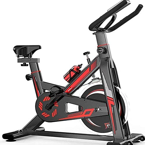 Bicicleta estática Sentado Bicicleta estática 8 kg Volante bidireccional con Monitor LCD y sensores de Pulso de Mano Ideal para Entrenadores de Cardio (actualización)