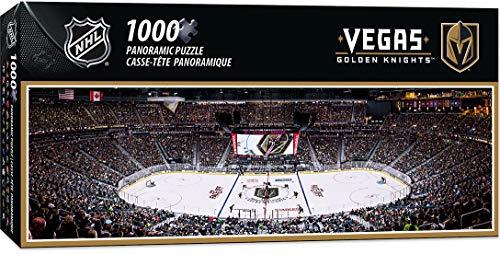 "MasterPieces NHL Vegas Golden Knights Stadium Panoramic Jigsaw Puzzle, 1000 Pieces, 13"" x 39"""