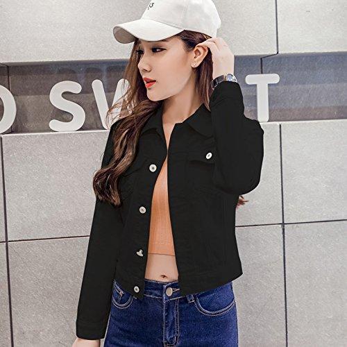 NZJK lange mouwen slim wit zwart jeans top voor vrouwen feesten jeansjas vrouwen korte mantel dames jassen tops