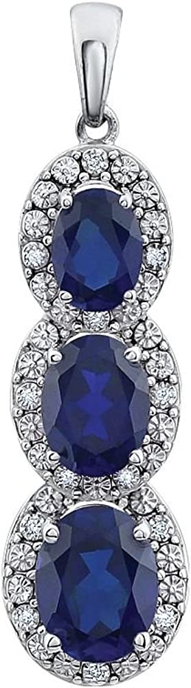 14k White Gold Max 65% Animer and price revision OFF Created Sapphire Diamond Polished and Blu