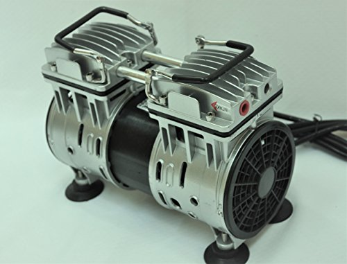Twin Piston Oilless Oilfree Oil-Less Oil-Free Vacuum Pump 5.5CFM 3/4 HP Good for Dairy Farm Milker Pulsator Hookup Epoxy Resin Infusion Workshop Bagging Medical/Dental Office Push Pull