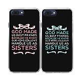 iPhone 7 Plus /8 Plus Case-TTOTT New iPhone 2X BFF Cases Floral Best Friend God Made Us Best Friend Couple Cases Matching Soft TPU Case Bumper Cover Case for iPhone 7 Plus /8 Plus 5.5'