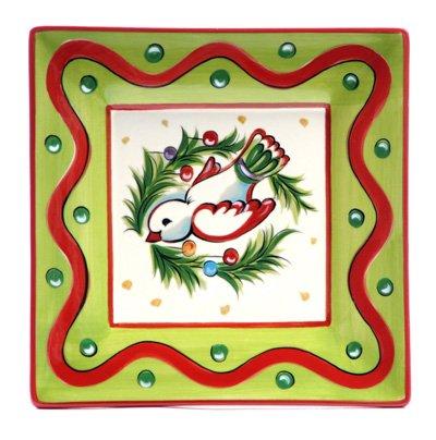"Gail Pittman Christmas Bright 8"" Dove Plate -  Gail Pittman Designs"