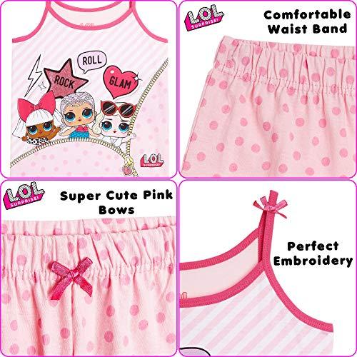 L.O.L Surprise ! Camisones de camisón o camisón de Confeti Pop Vestidos de camisón para niñas Lil Lencería escandalosa Littles (7-8 años, Glam Girls PJ)