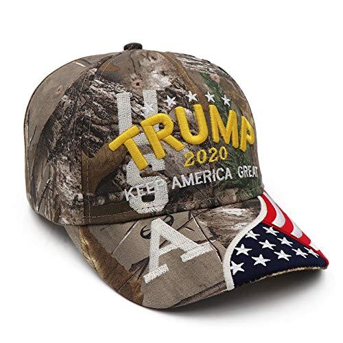 rosemaryrose Trump Cap Make America Great Again-Donald Trump 2020 Keep America Great Cap Verstellbare Baseballkappe Mit Gestickten Hüten Unter Der Flagge Der USA Für Männer Und Frauen