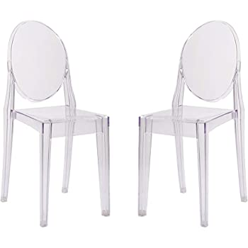 Living Room Bedroom Combo Ideas, Dining Chairs Home Kitchen Panana 4 Pcs Ghost Chair Clear Plastic Transparent Philippe Starck Style Dining Chair Modern Side Chair