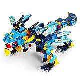 WXIAORONG RC Building Block Dinosaur, Intelligent DIY Fernbedienung Montage Elektronische Dinosaurier-Roboter-Botzonen-Kindergeschmie-Spielzeug -