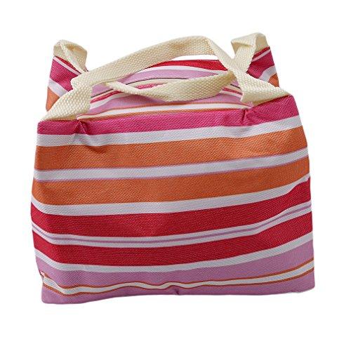 Yinew Mittagessen Tasche Isolierte Taschen Streifen Horizontale Streifen Isolierung Taschen Mode Isolierung kalt Wasserdicht Tragbare