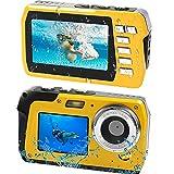 防水デジカメ防水カメラ デジカメ水中カメラ 防水デジタルカメラ デュアルスクリーン 水に浮く コンパクト 2.7K 48MP 連続ショット 16Xデジタルズーム 初心者 誕生日Micro SDカード128GB対応 日本語説明書付き