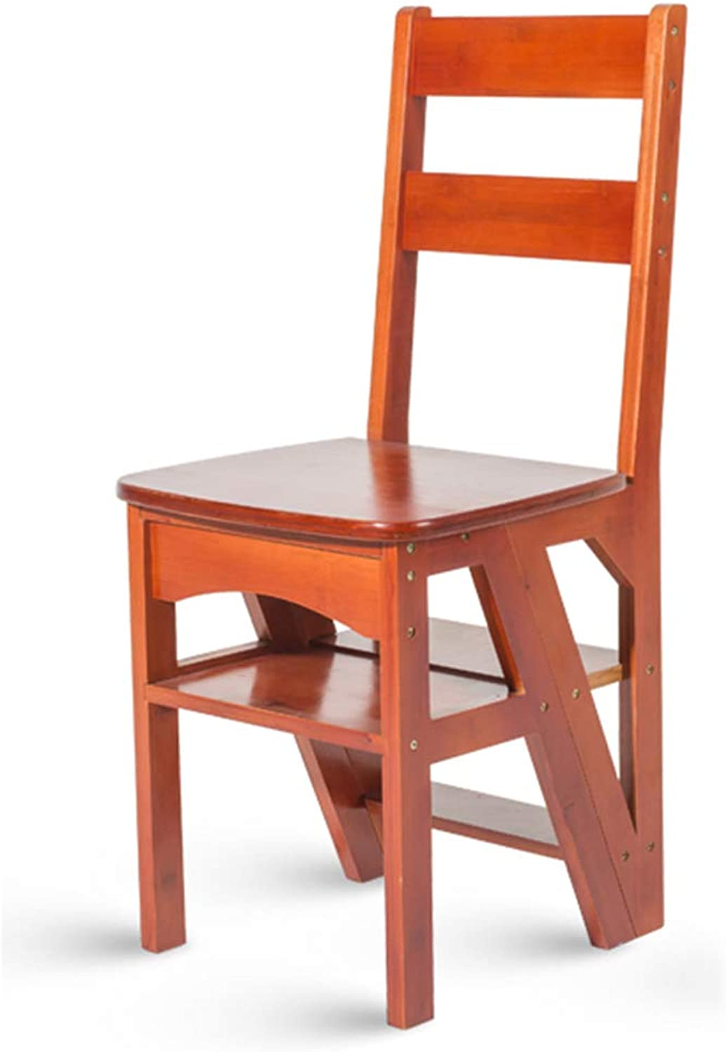 YD Step Stool Wood Folding Step Stool for Adults Kids Kitchen Wooden Ladders Small Foot Stools Indoor Folding Stepladder Portable shoes Bench Flower Rack Storage Shelf  &