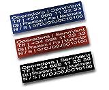 SERVIVANT ● Kit de 3 Placas Identificativas para Drones ● Placas para Dron OBLIGATORIAS según normativa AESA ● Tamaño Personalizados para Todos los Modelos de dron ● (Kit 2 Placas Iguales + 1 Extra)