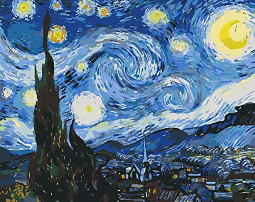 DIY 5D Diamond Painting Kit by Numbers for Adult and Kids 12x16 Inch Starry Night Sky Diamond Painting Round Full for Home Wall Decor Painting Arts Craft