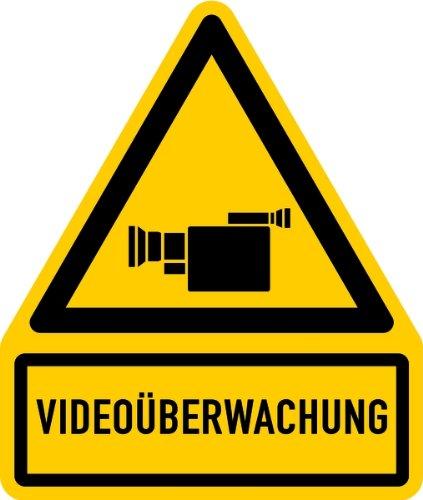 LEMAX® Aufkleber Videoüberwachung + Symbol 119x100mm