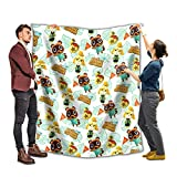 A-ni-m-al Cr-o-ss-in-g Blanket and Throw 50x40 Inch Super Soft Flannel Blankets Fleece Lightweight Plush Cozy Throws for Sofa Bed Couch Chair Living Room
