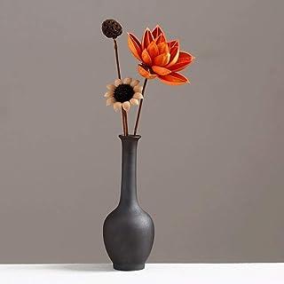 Decoracion Jarrones Flor de la decoración de la cerámica Negro Vintage cerámica pequeño jarrón de flores secas + Decoració...