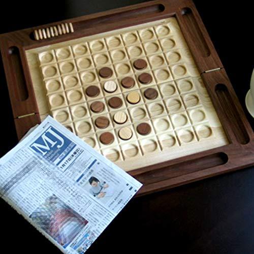 きざむ名入れ木製リバーシボードゲームウォルナットセンインテリアギフト
