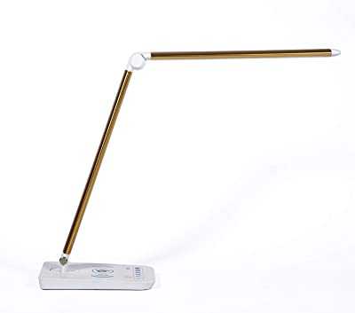 Desk Lamps Wireless Bluetooth Aluminum Multi-function USB Charging Wireless Charging Angle Adjustable 7 Lighting Modes Energy-saving and Power-saving Home Bedroom Study 1 Piece 10W