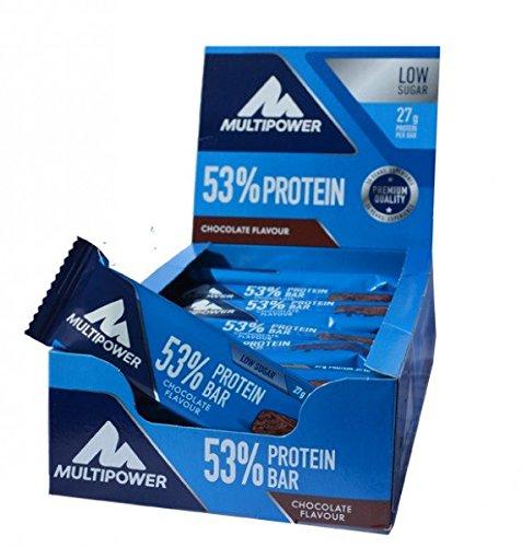 Multipower 53% Protein Bar, Mix Box, 30 Stück, 1-er Pack (1 x 1,5 KG)