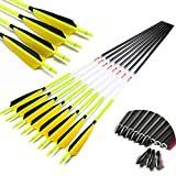 Archery Carbon Arrows ID6.2mm Spine 300 340 400 500 600 28inch 30inch 32inch Arrow Accessories Compound Recurve Traditional Bow Hunting Shooting 6PCS (Spine 300 30inch)