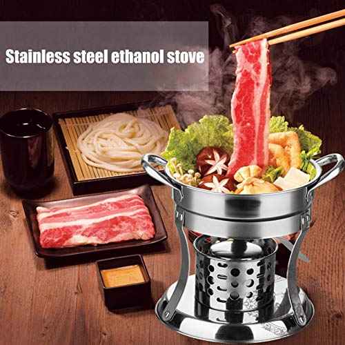 Durable Outdoor Hot Pot, Non‑magnetic Polishing Anti‑scalding Handle Cookware Hot Pot Stove, for Home Outdoor Kitchen Accessory Restaurant