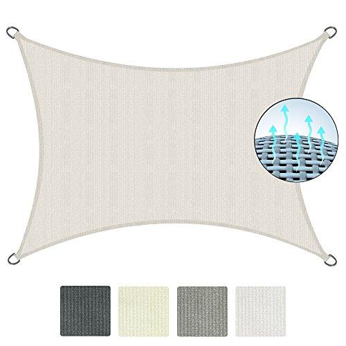 Sol Royal Tenda a Vela Traspirante SolVision HS9-3x4m Crema - Protezione Rettangolare Parasole e Anti UV