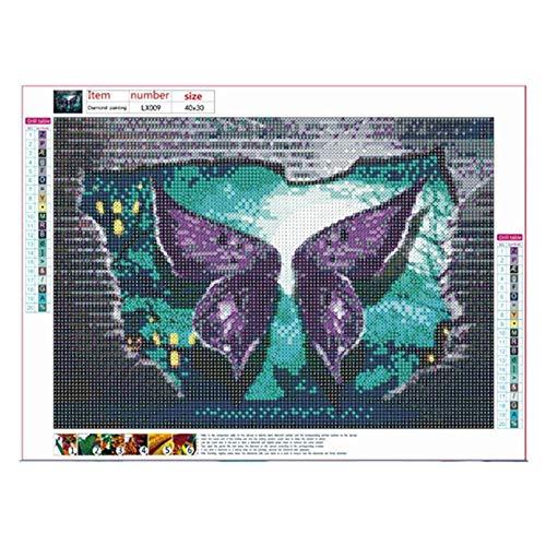 Peanutaor Forme spéciale Diamant Peinture Halloween Pourpre Papillon Lx009 Moderne Motif DIY 5D Partie Perceuse Point De Croix Kit Art