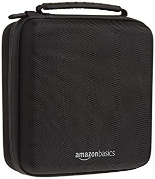 Amazon Basics Hard Shell Carry and Storage Case for Nintendo NES Classic - 8 x 8 x 3 Inches Black