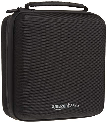 Amazon Basics Hard Shell Carry and Storage Case for Nintendo NES Classic - 8 x 8 x 3 Inches, Black