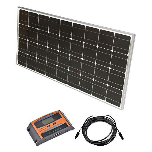 Solar Set 12 V Solaranlage Kit PV Inselanlage Wohnmobil Solarmodul Laderegler, Wattzahl:400W