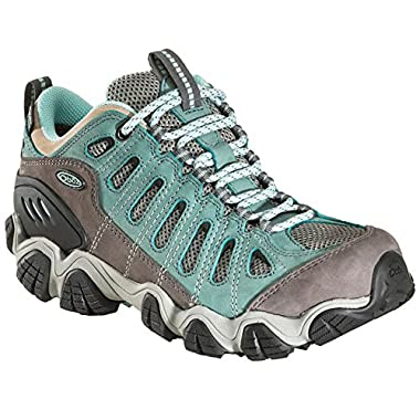 Oboz Women Sawtooth Low BDry Waterproof Hiking Shoes, Mineral Blue Green 9.5