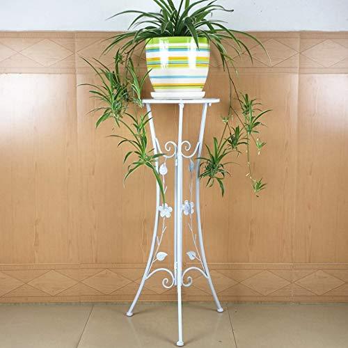 CKH Salon européen Pliant intérieur Balcon Couche Unique Tige Verte Suspendu étagère en orchidée en Fer forgé étagère Blanc