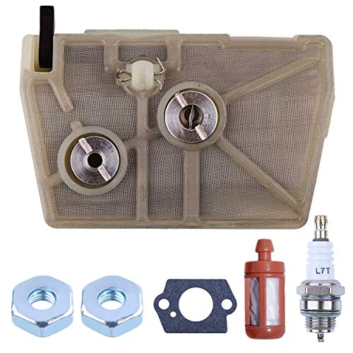 Mtanlo Air Filter Tune Up Maintenance Service Kit for Stihl 028 028AV Super WB Wood Boss 028Q 028W Chainsaw Parts # 11181201610 11181201611 11181201615
