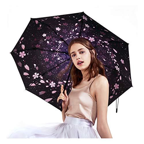 Sonnenschirm Schutz UV-Weibchen Ultraleicht Kleiner Faltbarer Regenschirm Doppelnutzung Sonnenschutz Mini Dreifachgefalteter Regenschirm Ursprüngliches Design Mode Sonnencreme Yu Shi Ying