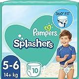 Pampers Splashers - 10 pannolini usa e getta, misura 5-6