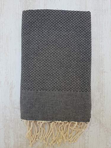 Miktex Vereint FOUTA, Hochwertiges FOUTA Handtuch - Größe XL 170x130 cm - 100prozent Baumwolle - 380 Gramm - Weich, glatt, leicht & sehr saugfähig - Strandtuch, Sofabezug, Tischdecke, Tagesdecke, Sarong.