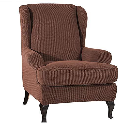 Cxssxling - Funda para silla de sofá, funda extensible suave, funda de taburete de tigre cepillado, todo color puro, protector de muebles, lavable y antiarrugas, funda de sofá