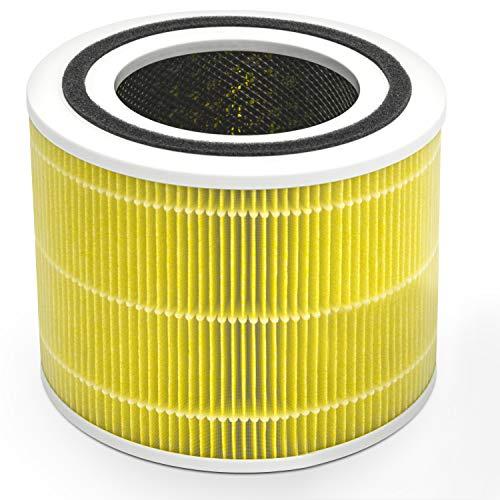 Levoit Core 300 Ersatzfilter für Allergiker Raucher, hocheffizienter HEPA & Aktivkohlefilter gegen Allergene Haustierhaare Rauch Gerüche, Core 300-RF-PA