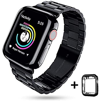 EPULY Compatible with Apple Watch Band 42mm 44mm 38mm 40mm ,Business Stainless Steel Metal Wristband for iWatch Series 5/4/3/2/1