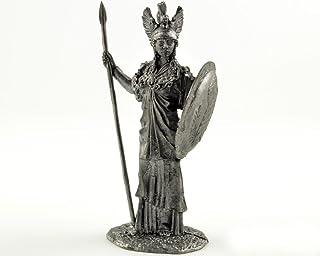 ギリシャの女神アテナ 金属彫刻。Greek goddess Athena. Tin toy soldiers. コレクション54ミリメートル (スケール1/32) ミニチュア置物。錫のおもちゃの兵士