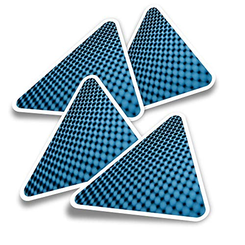 Pegatinas triangulares de vinilo (juego de 4) – Altavoces Música Macro Divertidos Calcomanías para Portátiles, Tabletas, Equipaje, Reservas de Chatarra y Frigoríficos #2166