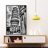 MYSY Retro Der Schiefe Turm Von Pisa Bild Wandkunst Poster
