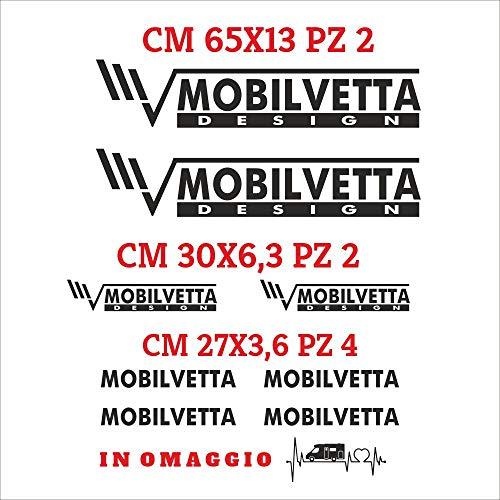Set Adesivi Mobilvetta Tagliati Singolarmente Stickers Compatibili Kit Decalcomanie Personalizza Colore Camper