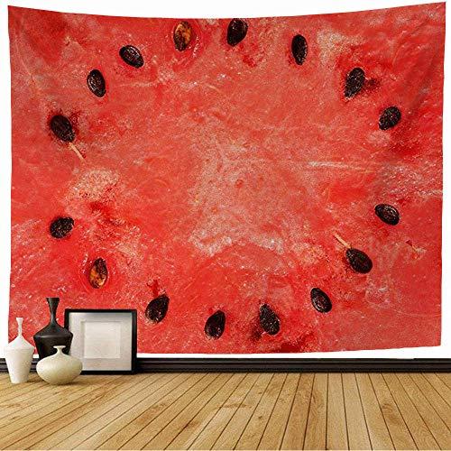 Tapiz de Pared Tapestry Sandía verde Comida dulce roja Bebida Agricultura Saludable Varios Picado Picado Postre Sabor Wall Hanging 80X60inch