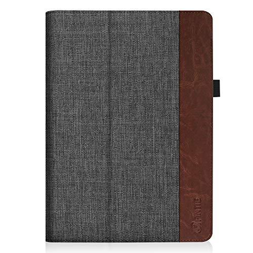 Fintie Huawei Mediapad T3 10 Hülle Case - Ultra Schlank Folio Stoff Schutzhülle Case mit Standfunktion für Huawei MediaPad T3 (9,6 Zoll) 24,3 cm Tablet-PC, Denim dunkelgrau - 6